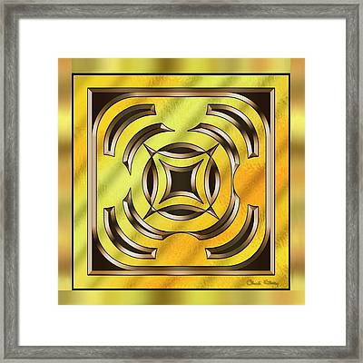 Gold Design 23 - Chuck Staley Framed Print by Chuck Staley