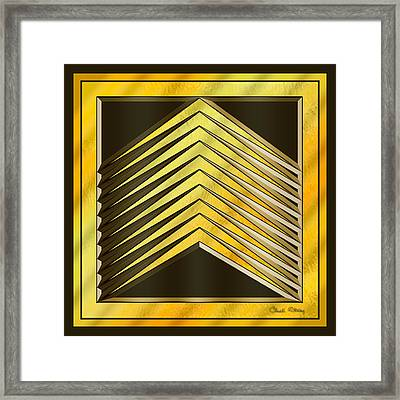 Gold Design 6 - Chuck Staley Framed Print by Chuck Staley