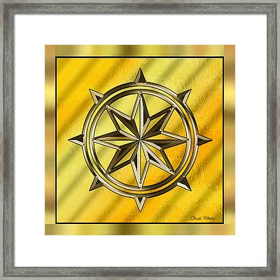 Gold Design 7 - Chuck Staley Framed Print by Chuck Staley