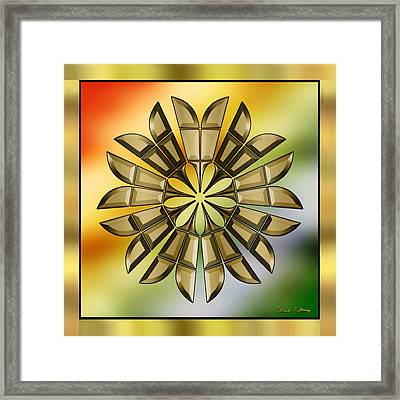 Gold Design 8 - Chuck Staley Framed Print by Chuck Staley