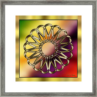 Gold Design 9 - Chuck Staley Framed Print by Chuck Staley