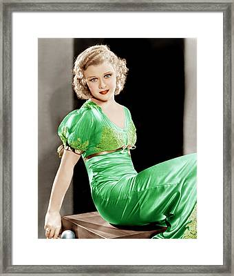 Gold Diggers Of 1933, Ginger Rogers Framed Print by Everett
