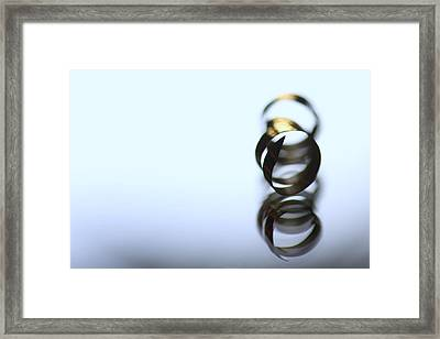 Gold Fingered Framed Print by Russell Styles