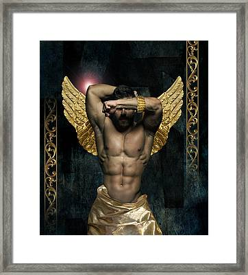 Gold Man  Framed Print by Mark Ashkenazi