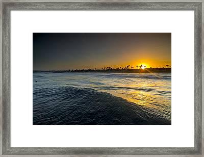 Gold Morning Framed Print by Sean Davey