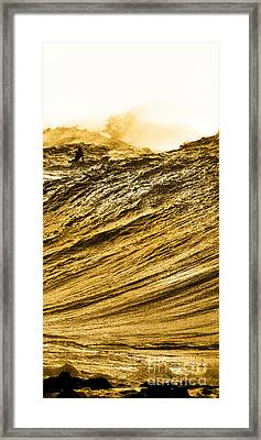 Gold Nugget -  Part 3 Of 3 Framed Print by Sean Davey