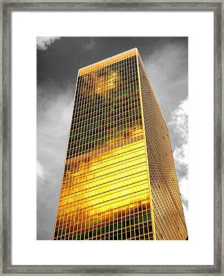 Selective Coloring Framed Print featuring the photograph Gold by Roberto Alamino