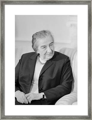 Golda Meir - Israeli Prime Minister Framed Print by War Is Hell Store