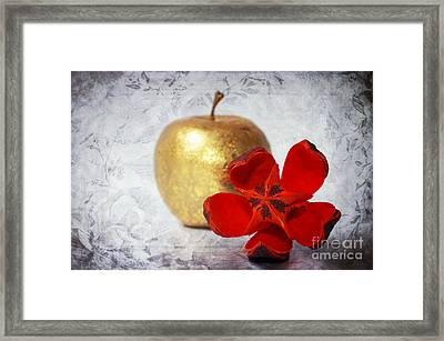 Golden Apple Framed Print by Angela Doelling AD DESIGN Photo and PhotoArt