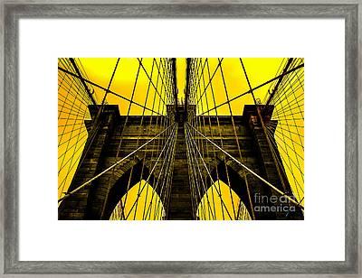 Golden Arches Framed Print by Az Jackson