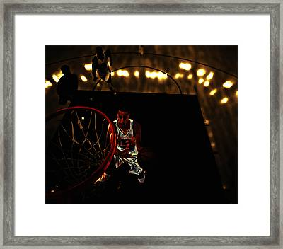 Golden Boy Stephen Curry Framed Print by Brian Reaves