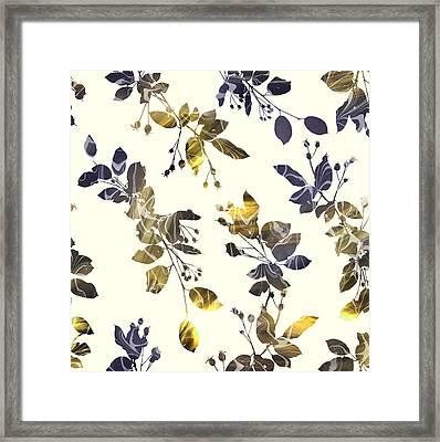 Golden Branches Framed Print by Varpu Kronholm