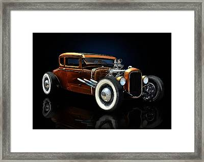 Golden Brown Hot Rod Framed Print by Rat Rod Studios