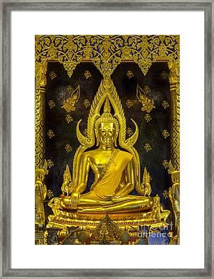 Golden Buddha  Framed Print by Anek Suwannaphoom