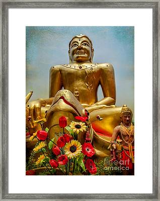 Flowers For Buddha  Framed Print by Adrian Evans
