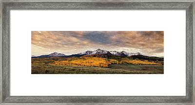 Golden Colorado Panorama Framed Print by Andrew Soundarajan