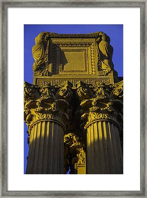 Golden Columns Palace Of Fine Arts Framed Print by Garry Gay
