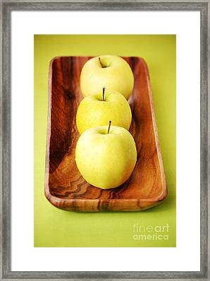 Golden Delicious Apples Framed Print by HD Connelly