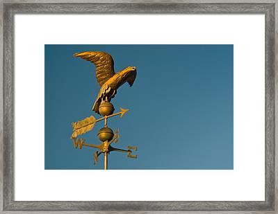 Golden Eagle Weather Vane Framed Print by Douglas Barnett
