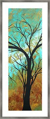 Golden Fascination 4 Framed Print by Megan Duncanson