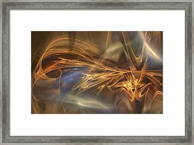 Golden Flame Framed Print by Mary Almond