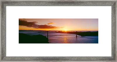 Golden Gate & San Francisco From Marin Framed Print by Panoramic Images