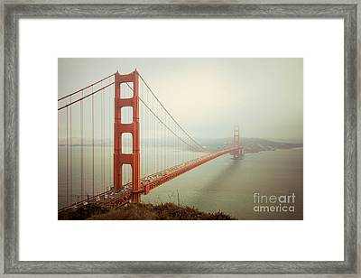Golden Gate Bridge Framed Print by Ana V  Ramirez
