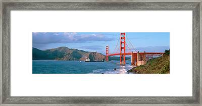 Golden Gate Bridge Ca Framed Print by Panoramic Images