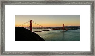Golden Gate Bridge From The Headlands Framed Print by Steve Gadomski