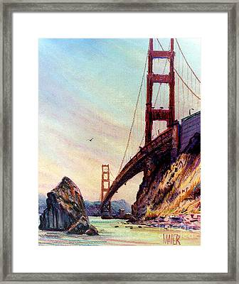 Golden Gate Bridge Looking South Framed Print by Donald Maier