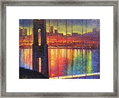 Golden Gate Bridge Framed Print by Raffi Jacobian