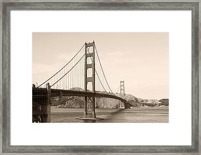 Golden Gate Bridge San Francisco - A Thirty-five Million Dollar Steel Harp Framed Print by Christine Till