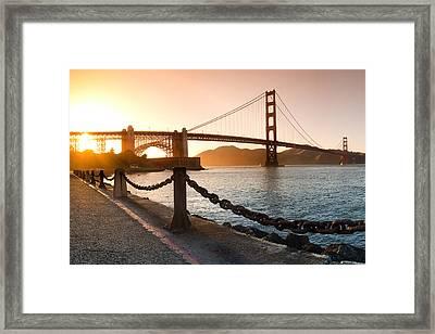 Golden Gate Chain Link Framed Print by Sean Davey