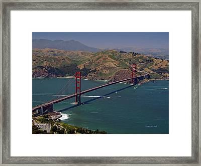 Golden Gate Framed Print by Donna Blackhall