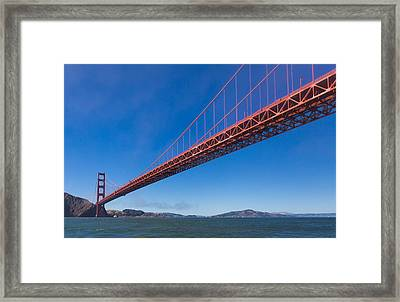 Golden Gate From The Bay Framed Print by Scott Campbell