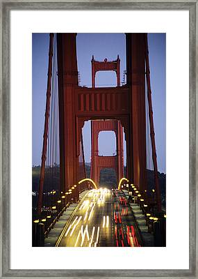 Golden Gate Traffic Framed Print by Michael Howell - Printscapes