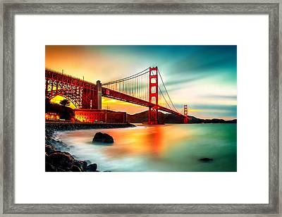 Golden Gateway Framed Print by Az Jackson