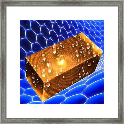 Golden Honey Butter Melt Framed Print by John Haldane