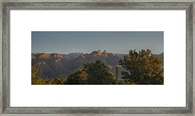 Golden Hour On Thimble Peak Framed Print by Dan McManus