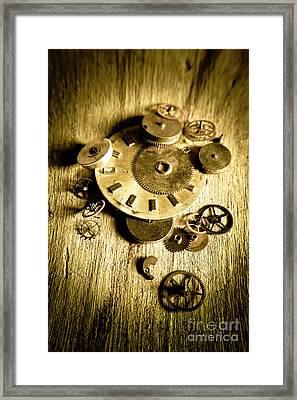 Golden Industry Gears  Framed Print by Jorgo Photography - Wall Art Gallery
