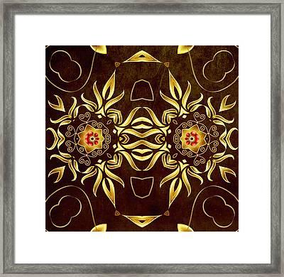Golden Infinity Framed Print by Georgiana Romanovna