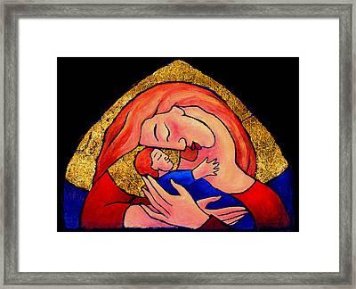 Golden Mama Framed Print by Angela Treat Lyon