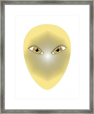 Golden Mask Framed Print by Tuco Shoppe