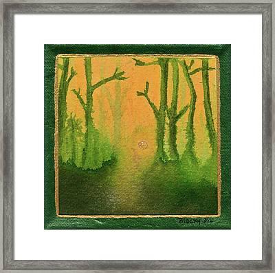 Golden Mist Framed Print by Donna Blackhall