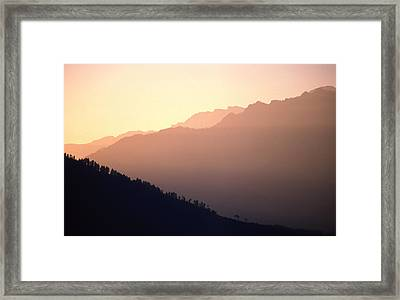 Golden Mountains Framed Print by Patrick Klauss