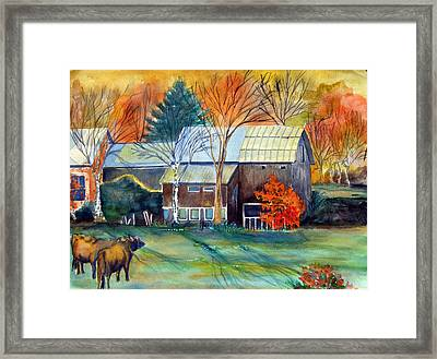 Golden Ohio Framed Print by Mindy Newman