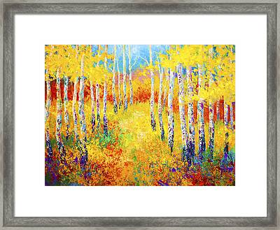 Golden Path Framed Print by Marion Rose