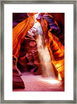 Golden Pillars Framed Print by Az Jackson