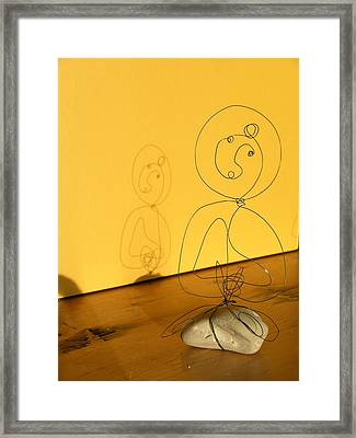 Golden Shadow Framed Print by Live Wire Spirit