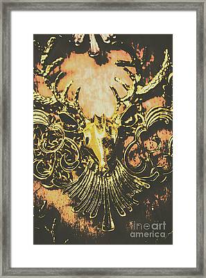 Golden Stag Framed Print by Jorgo Photography - Wall Art Gallery